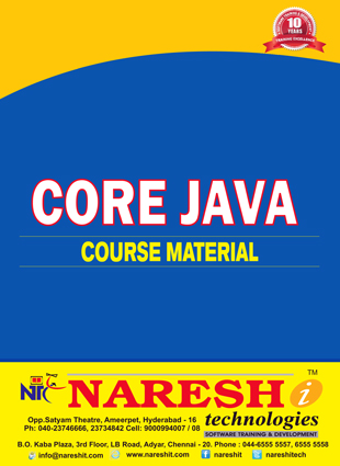 naresh technologies java material free pdf download